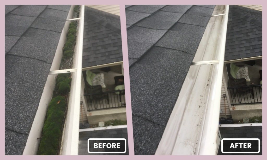 Eavestrough Before and After