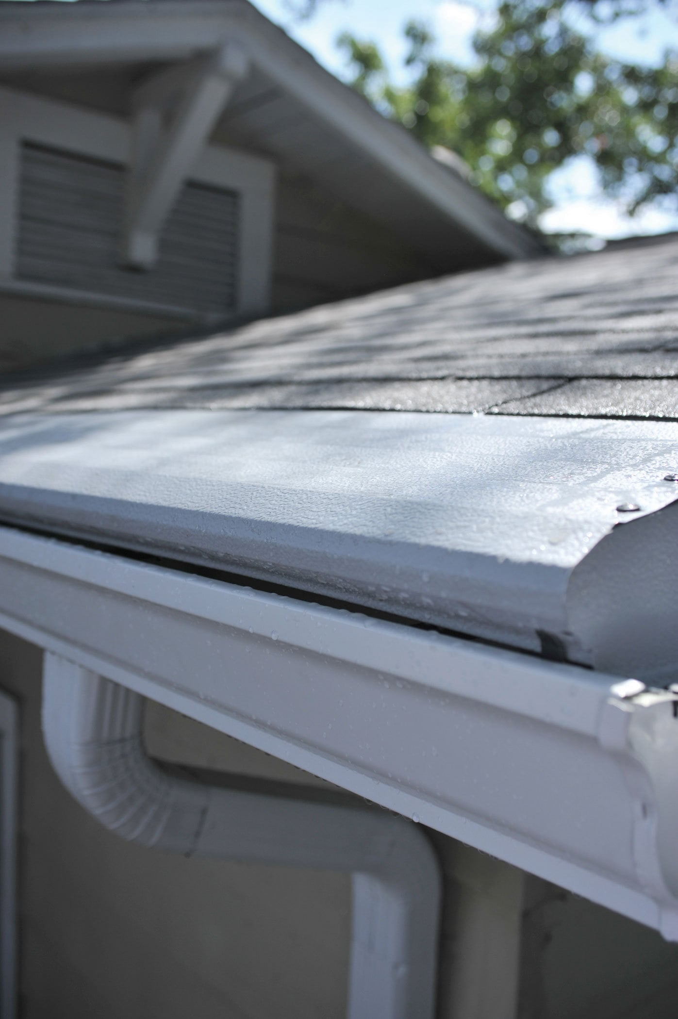Surface-tension gutter guards