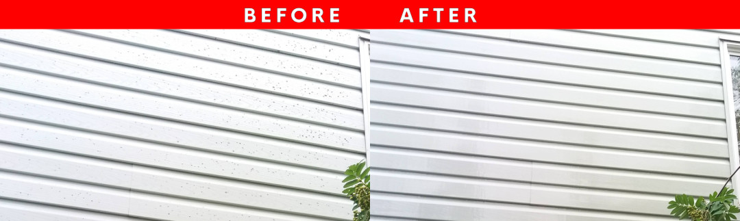 Before / After Photo of Siding