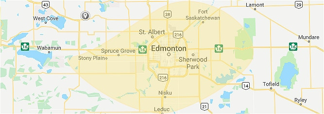 Google Maps Screenshot of Edmonton Metropolitan