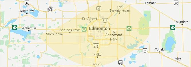 Google Maps Screenshot of Edmonton Metropolitan
